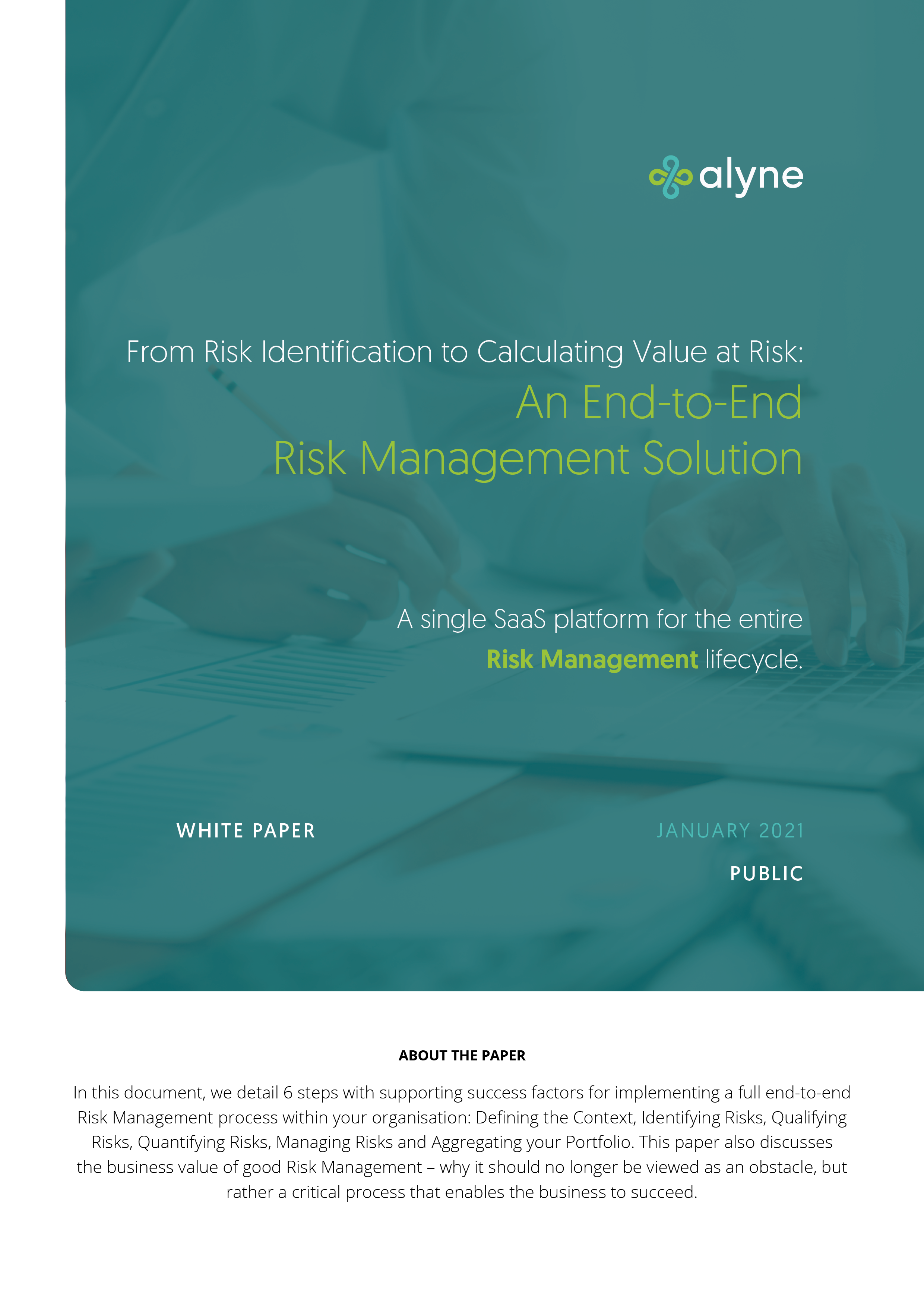 End to End Risk Management (Cover Image)